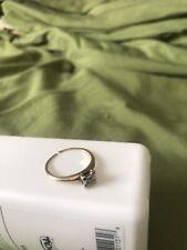 vintage antique natural diamond Gold engagement ring '1920's