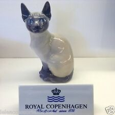 Royal Copenhagen Autocollants n°3281 - Siamois Cat - Chat Petite statue