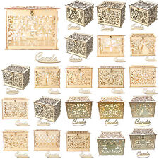 Wooden DIY Wedding Cards Box Invitation Letter Storage Case Valentine Party Gift