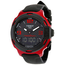 Tissot T-Race Touch Aluminium Black Dial Black Silicone Mens Sports Watch