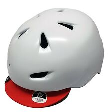 Bern Brentwood Road Bike Helmet L/XL White Flipaway Visor - Old Stock