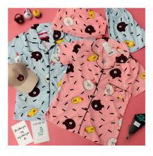 Korea Bear Brown Bunny Cony Pink/Blue Cute Soft Pajamas Home Clothes Full Set