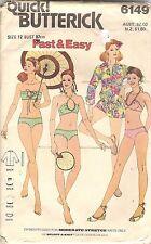 Butterick Sewing Pattern 6149, Bikini & Beach Cover Up, Size 12, Uncut