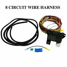 8 Circuit Fuse 12V Universal Wiring Harness Muscle Car Hot Street Rod Rat New