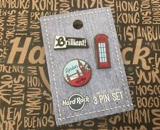 Hard Rock Cafe HRC LONDON 3 Pin Set Lapel Pins NEW Neu
