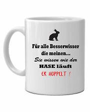 Tasse Wie der Hase läuft Spruch Becher lustig Kaffeetasse Geschenk Kaffeebecher