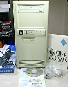 Vintage DOS Windows 3.11 Windows 95 Gaming AT Computer Sound Blaster 8 ISA Slots