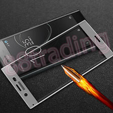 Tempered Glass Screen Protector Protection for Sony Xperia XZ Premium SILVER