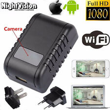 Mini HD 1080P WIFI SPY DVR Hidden Camera Adapter Plug IR Lamp Video Recorder Hot