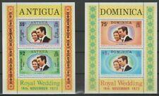 Antigua, 2 Blocs de timbres neufs MNH, bien