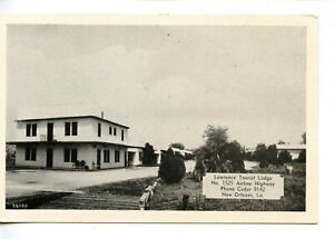 Lawrence Tourist Lodge-New Orleans-Louisiana-Vintage B/W Advertising Postcard