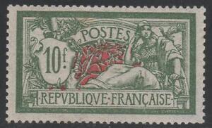 "FRANCE STAMP YVERT 207 SCOTT # 131 "" LIBERTY AND PEACE 10F GREEN "" MNH VF K378"