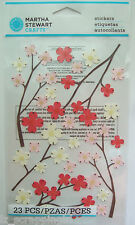 ~DOGWOOD~ Stickers MARTHA STEWART CRAFTS; Spring Flowers Floral, pink red cream