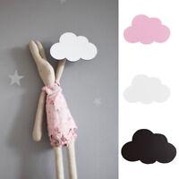 FT- Nordic Wooden Cloud Hook Wall Hanger Sticker Holder Kids Room Decoration Eye
