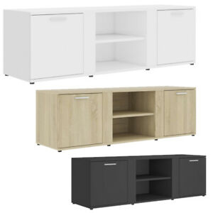 Modern TV Cabinet 2 Door Storage Living Room Furniture 120x34x37 cm Chipboard