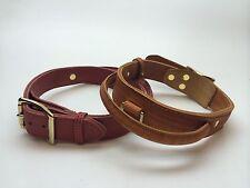 50-60 cm, 4 cm Leder breit Hundehalsband, Griffhalsband, Braun