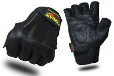 Leather Weight Lifting Gloves Body Building Power Training Gym Exercise
