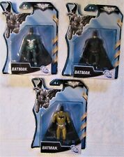 "DC THE DARK KNIGHT RISES SET/ 3 BATMAN ACTION FIGURES 4"" B/NEW, FACTORY SEALED"