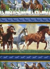 "SELECTION QT /""ROUND /'EM UP/"" WESTERN HORSES SAYINGS FABRICS"