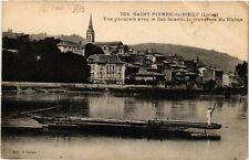 CPA   Saint-Pierre-de-Boeuf (Loire)- Vue générale avec le Bac faisant (580573)