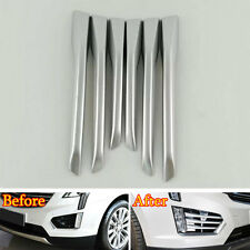 Accessories Front Fog Light Lamp Cover Trim 6x Matte For Cadillac XT5 2015-2018