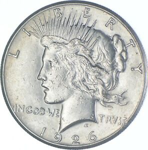 Choice AU/UNC 1926 Peace Silver Dollar - 90% Silver *512