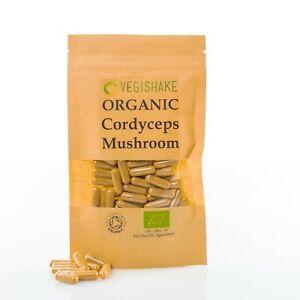 Organic Cordyceps Mushroom HPMC Capsule Sinensis Fungus Fungi Vegan Halal Kosher