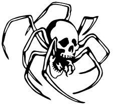 SKULL SPIDER VINYL DECAL STICKER WINDOW WALL CAR BUMPER LAPTOP CREEPY ARACHNID