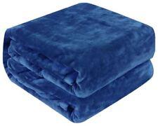 Soft Heavy Blanket Navy Blue Woven Sensory 50 x 60 Inch Thick Plush New Blanket