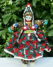 Pretty Handmade Traditional Costume Fabric Textile Russian Dancing Doll Figure