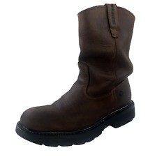 Wolverine Wellington Leather Work Boots Mens Size 8M Brown Roper Western