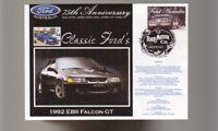 2000 FORD 75th ANNIV COV, 1992 EB II FALCON GT 1