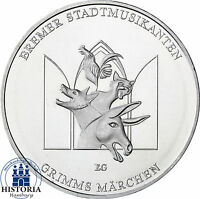 Deutschland 20 Euro Silber 2017 bfr Bremer Stadtmusikanten Silbermünze