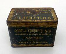 Vintage Original Asafoetida Adv Tin box High Class Misky TG Brand