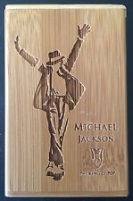 Bamboo Cigarette Case With Michael Jackson, Holds 20 Cigarettes 1 Pack, New
