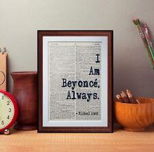 Michael Scott Le Bureau Cite Dictionary page Literary Art Imprimé Je suis Beyonce