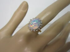 GORGEOUS ESTATE 14 KT GOLD 2.60 CTW. OPAL AND DIAMOND RING !!!!!!!!!