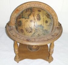 Vintage Reproduction of Terrestrial Zodiac Globe Original Made in Italy