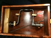 """Belknap  Blue Grass 5714 14"""" Hand Brace With Wooden Storage Box"""