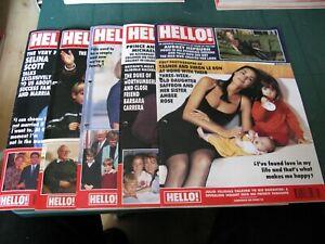 HELLO MAGAZINE 5 ISSUES 1991 - NO.175 181 - SELINA SCOTT LIZ TAYLOR CHRIS EVERT