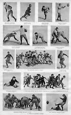 FOOTBALL STARS OF 1892 HARVARD, PRINCETON, YALE COLLEGE