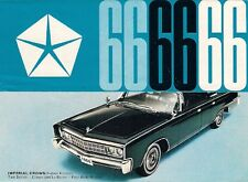 Chrysler Dodge Plymouth Imperial 1966 UK Market Foldout Sales Brochure