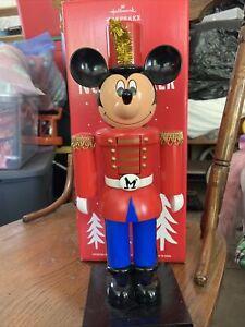 """Disney Mickey Mouse Nutcracker 14"""" Tabletop 2015 Hallmark Keepsake Pre-owned"""