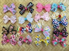 "12 doll hair bows grab bag lot fits 14.5/"" /& 18/"" American Girl dolls accessories"