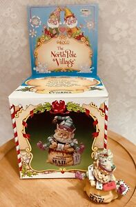 "Enesco North Pole Village ""CRINKLES"" Mail Sack 1990 Zimnicki Minor Damage W/Box"