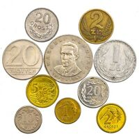 10 POLISH COINS POLAND. OLD COLLECTIBLE COINS SET