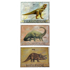 3 Dinosaur Posters Set 30 x 22 Brontosaurus Trex Triceratops Boston Museum