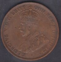 CB1448) Australia 1925 Penny, good VF, showing 6 pearls and part centre diamond