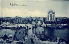ROTTERDAM Holland Briefkaart ~1900/10 Brücke am Leeuwenbrug Damm en Witte Huis