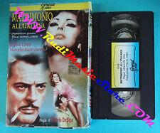 VHS film MATRIMONIO ALL'ITALIANA Sophia Loren Marcello Mastroianni (F24) no dvd